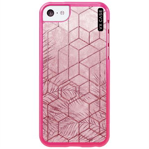capa-para-iphone-5c-vx-case-pink-tropical-leaves-rosa