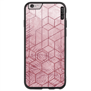 capa-para-iphone-6s-plus-vx-case-pink-tropical-leaves-preta-fosca