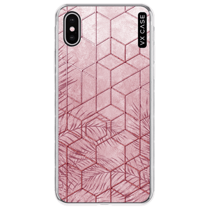 capa-para-iphone-xs-vx-case-pink-tropical-leaves-translucida