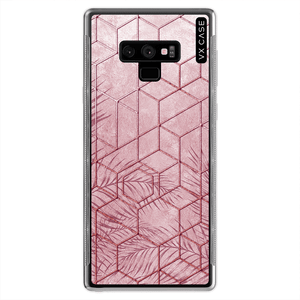 capa-para-galaxy-note-9-vx-case-pink-tropical-leaves-translucida