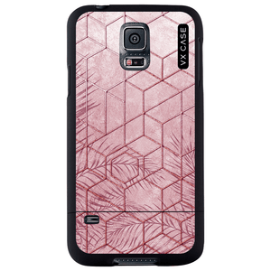 capa-para-galaxy-s5-vx-case-pink-tropical-leaves-preta-fosca