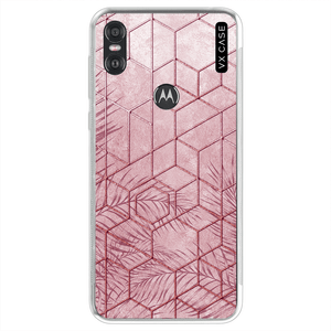 capa-para-motorola-one-vx-case-pink-tropical-leaves-translucida