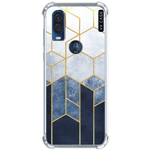 capa-para-motorola-one-action-vision-vx-case-blue-relief-and-gold-translucida