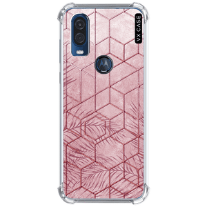 capa-para-motorola-one-action-vision-vx-case-pink-tropical-leaves-translucida