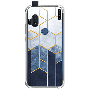 capa-para-motorola-one-hyper-vx-case-blue-relief-and-gold-translucida
