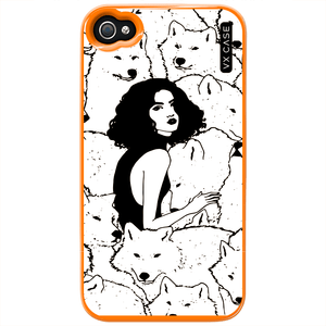 capa-para-iphone-4s-vx-case-girl-with-the-wolves-laranja