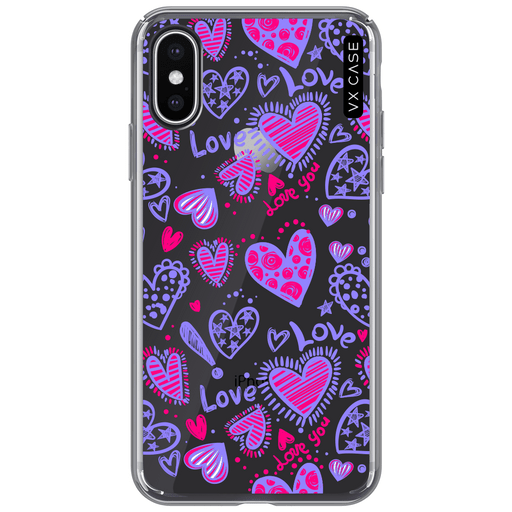 capa-para-iphone-xs-vx-case-love-doodles-purple