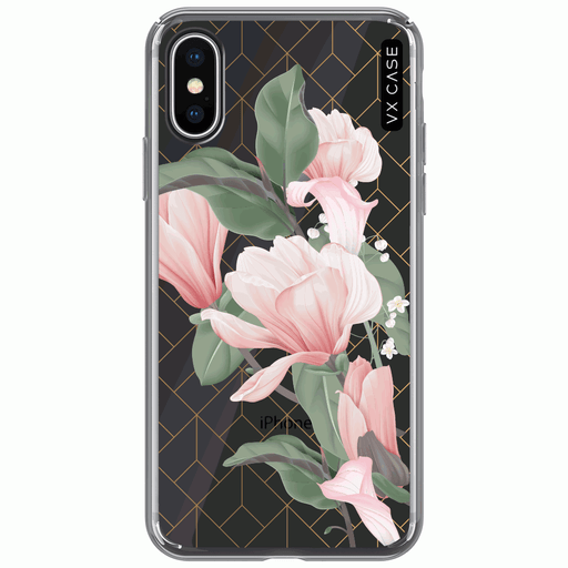 capa-para-iphone-xs-vx-case-magnolia-flowers-transparente