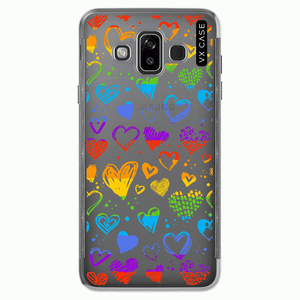 capa-para-galaxy-j7-2018-vx-case-rainbow-heart-transparente