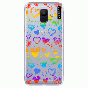 capa-para-galaxy-a6-2018-vx-case-rainbow-heart-transparente