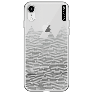 capa-para-iphone-xr-vx-case-silver-triangle-lines-translucida