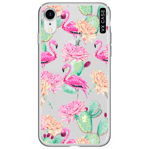 capa-para-iphone-xr-vx-case-flamingos-e-cactos-translucida
